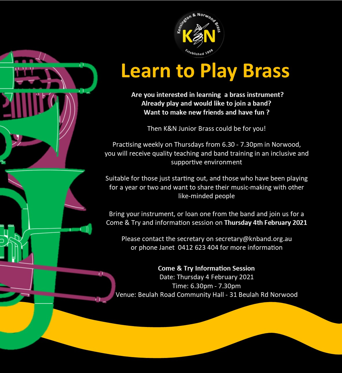 Join K&N Youth Brass in 2021